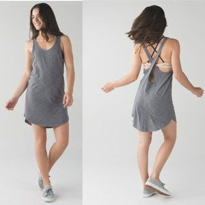 Lululemon Water: Salty Swim Dress Heathered Slate